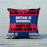 Britain is booming Feather Cushion (Lifestyle)