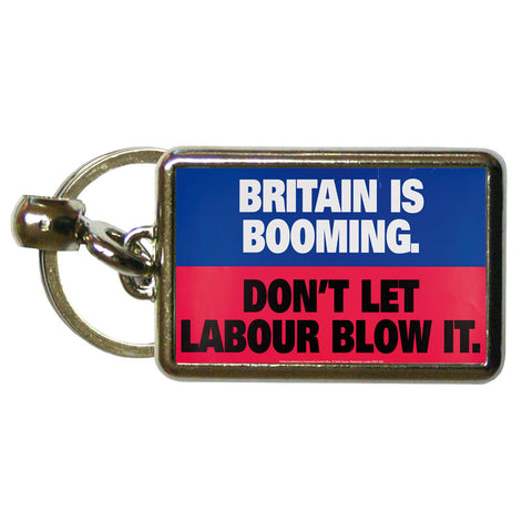 Britain is booming Metal Keyring