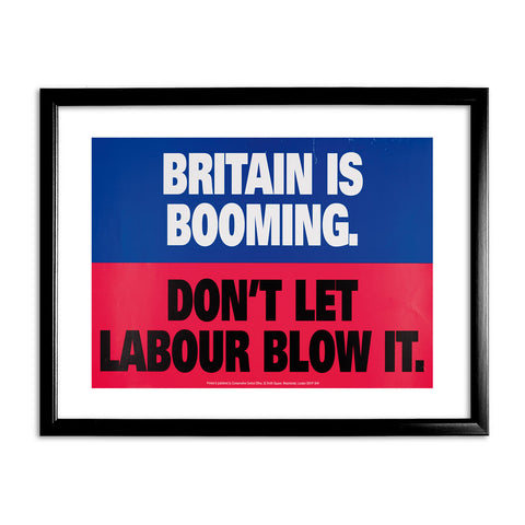 Britain is booming Black Framed Print