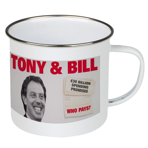 Tony & Bill Enamel Mug