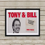 Tony & Bill Black Framed Print (Lifestyle)