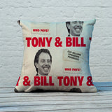 Tony & Bill Feather Cushion (Lifestyle)