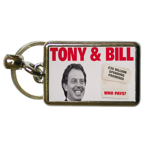 Tony & Bill Metal Keyring