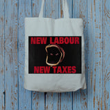 New Labour. New taxes. Long Handled Tote Bag (Lifestyle)