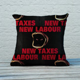 New Labour. New taxes. Feather Cushion (Lifestyle)