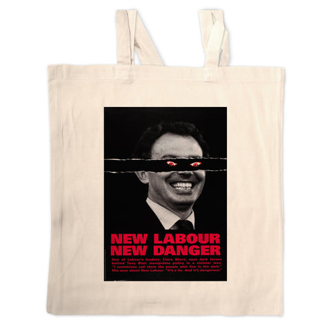 New Labour. New danger. Long Handled Tote Bag