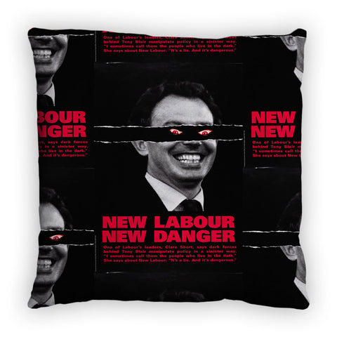 New Labour. New danger. Feather Cushion