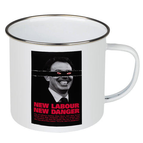 New Labour. New danger. Enamel Mug