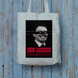 New Labour. New danger. Long Handled Tote Bag (Lifestyle)