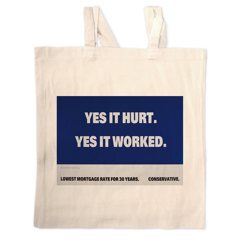 Yes it hurt Long Handled Tote Bag