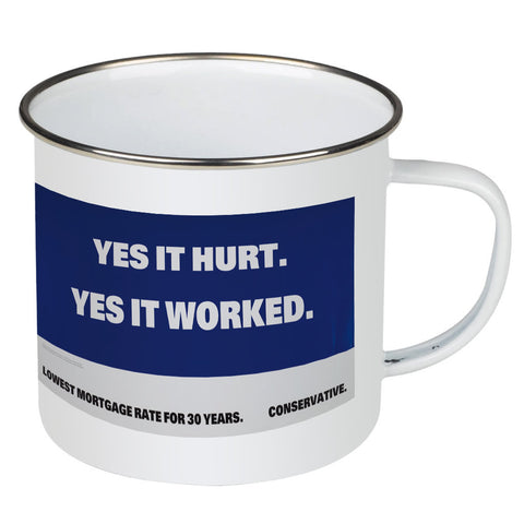 Yes it hurt Enamel Mug