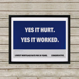 Yes it hurt Black Framed Print (Lifestyle)