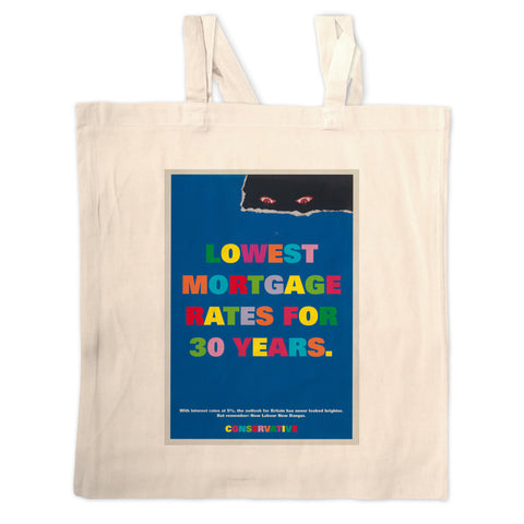 Lowest mortgage rates for 30 years Long Handled Tote Bag
