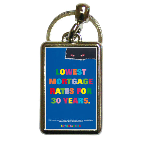 Lowest mortgage rates for 30 years Metal Keyring