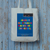 Lowest mortgage rates for 30 years Long Handled Tote Bag (Lifestyle)