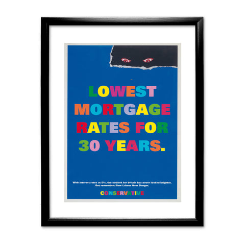 Lowest mortgage rates for 30 years Black Framed Print