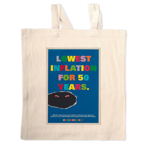 Lowest inflation for 50 years Long Handled Tote Bag