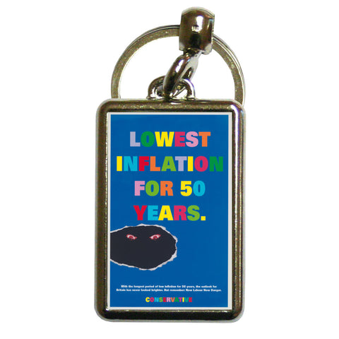 Lowest inflation for 50 years Metal Keyring