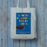Lowest inflation for 50 years Long Handled Tote Bag (Lifestyle)