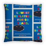 Lowest inflation for 50 years Feather Cushion