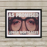 As promised. Lower mortgage Black Framed Print (Lifestyle)