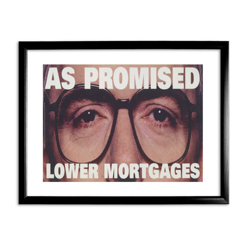 As promised. Lower mortgage Black Framed Print