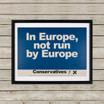 In Europe, not run by Europe Black Framed Print (Lifestyle)