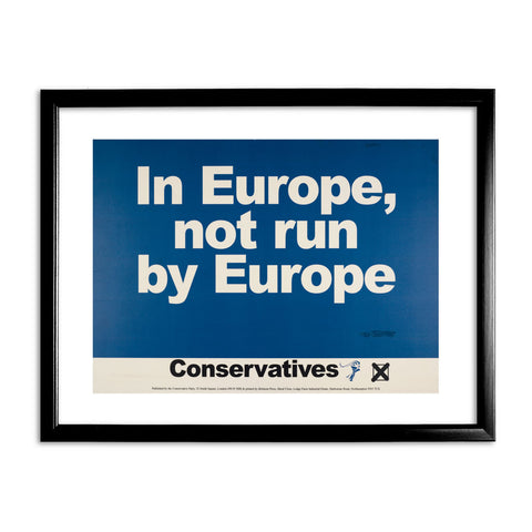 In Europe, not run by Europe Black Framed Print