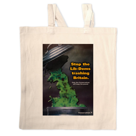 Stop the Lib-Dems trashing Britain Long Handled Tote Bag