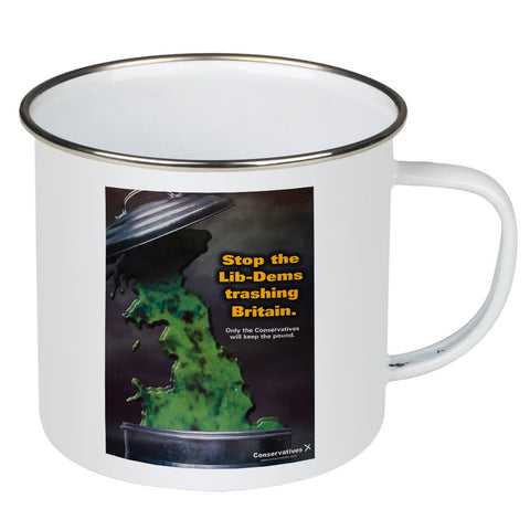 Stop the Lib-Dems trashing Britain Enamel Mug