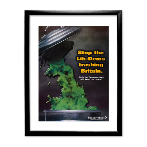 Stop the Lib-Dems trashing Britain Black Framed Print