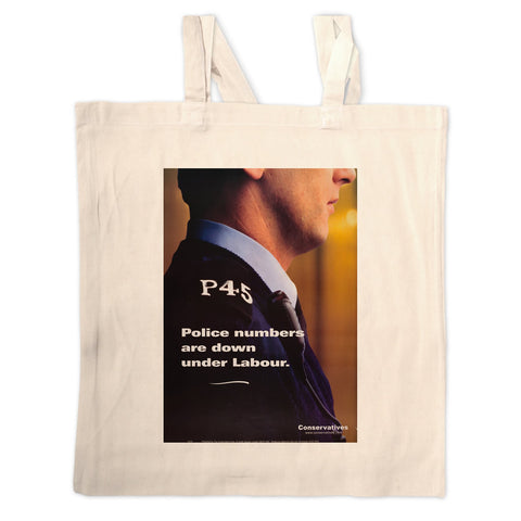 Police numbers are down under Labour Long Handled Tote Bag
