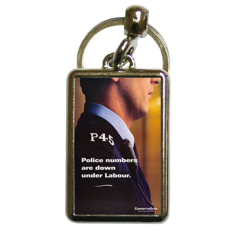 Police numbers are down under Labour Metal Keyring