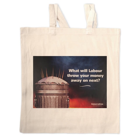 What will Labour throw your money away on next? Long Handled Tote Bag