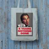 "Tony Blair - ""24 Hours to save the NHS"" - 4 Years Nothing Done Long Handled Tote Bag (Lifestyle)"
