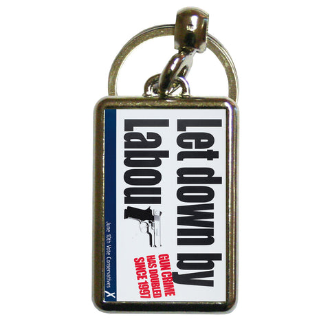Let down by Labour Metal Keyring