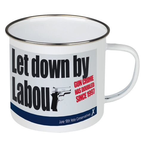 Let down by Labour Enamel Mug