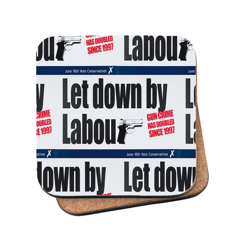 Let down by Labour Cork Coaster