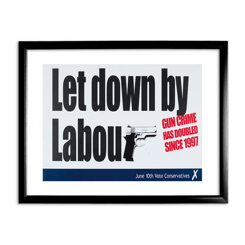 Let down by Labour Black Framed Print