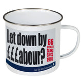 Let down by £££abour? 66 Stealth taxes Enamel Mug