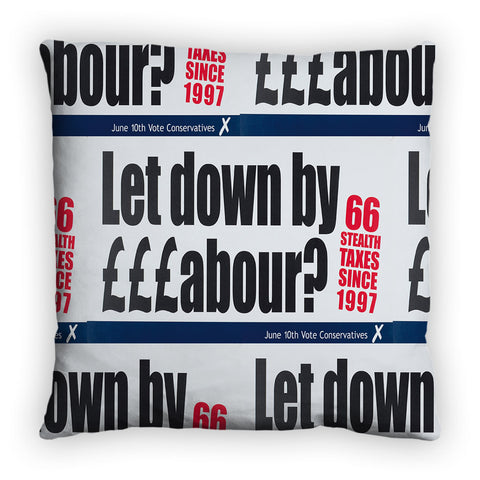 Let down by £££abour? 66 Stealth taxes Feather Cushion