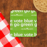 Vote blue go green Cork Coaster (Lifestyle)