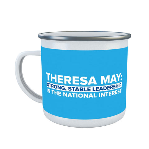 Theresa May: Strong, stable leadership in the national interest Enamel Mug