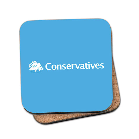 Conservatives Cork Coaster