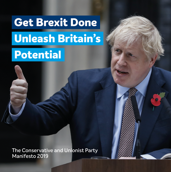 Manifesto: Get Brexit Done - Unleash Britain's Potential