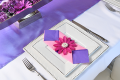 Girl's Party with Purple, Fancy Pink Headband