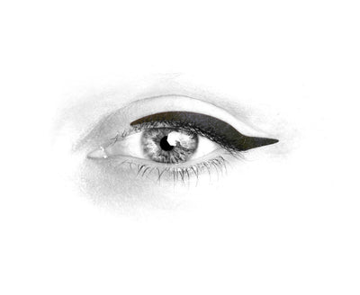 No.4 </br>Stick on eyeliners </br>matte black - 3 styles
