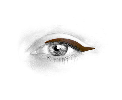 No.8 </br>Stick on eyeliners </br>dark brown - 3 styles
