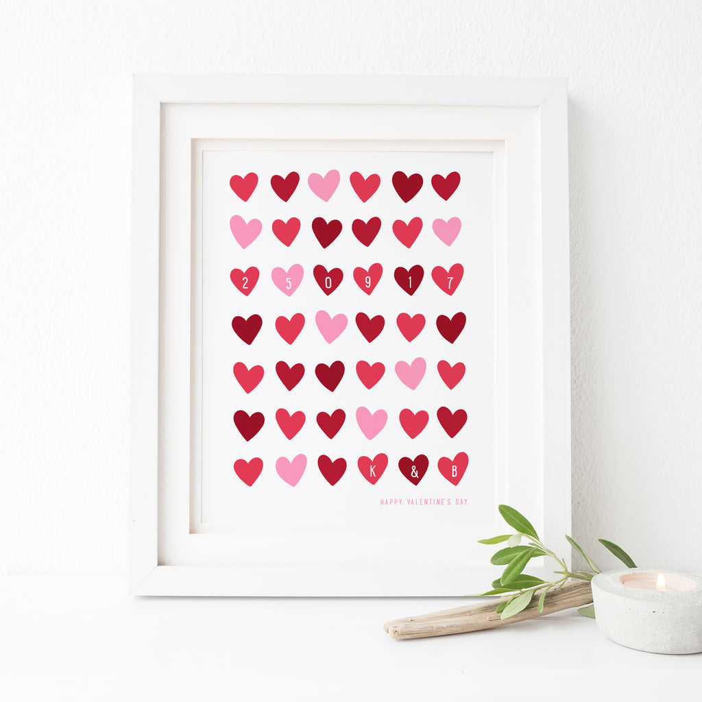 Memorable Date Valentines Print