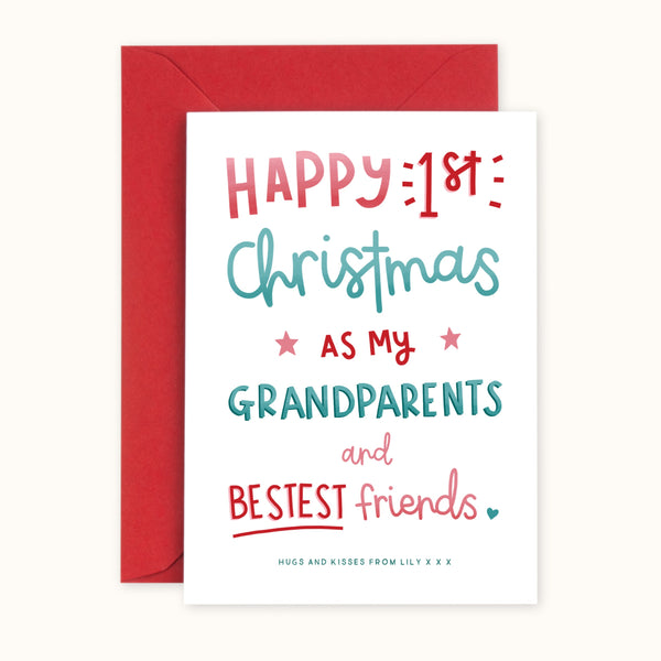 1st Christmas As My Grandparents Card